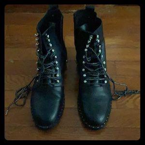Zara military boots